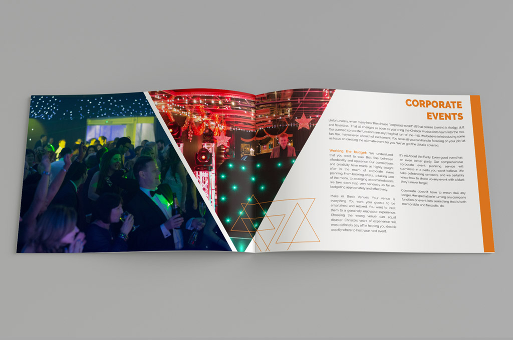 events company brochure design nv graphic design