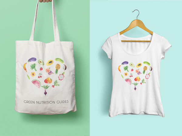 Green Nutrition Guides Brand Identity