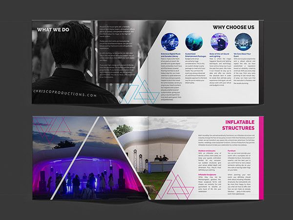 Event Company Brochure Design