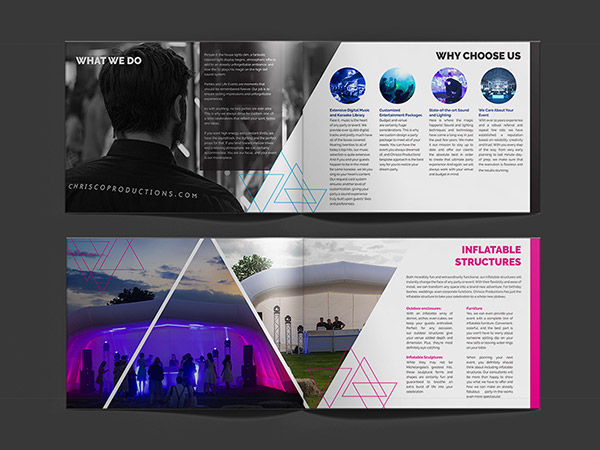events company brochure design nv graphic design