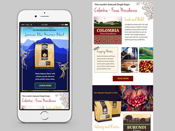Coffee Newsletter Design for Coffee Company