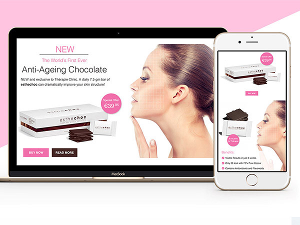 Anti-ageing Product Landing Page