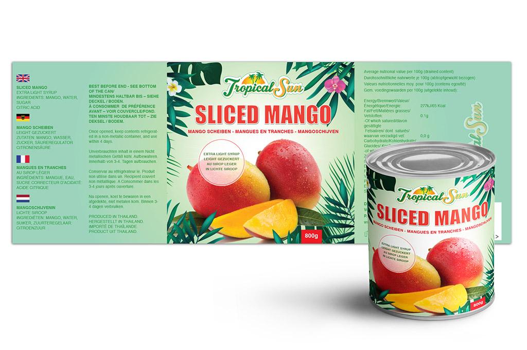 Logo & Label Design for Mango Can - NV Graphic Design