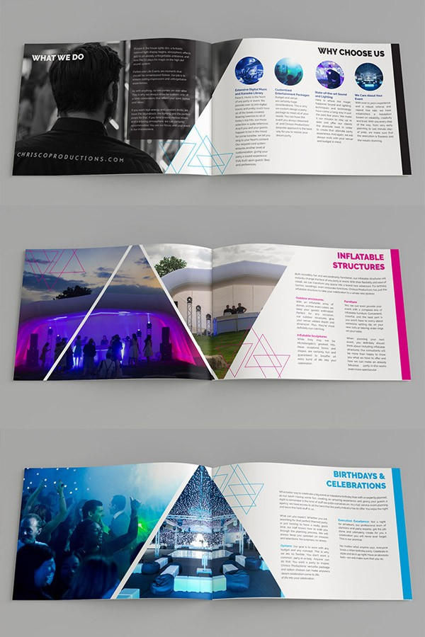 Events Company – Brochure Design Concept
