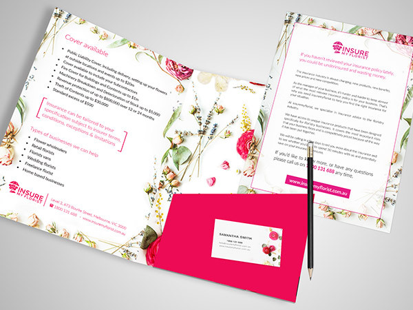 Insurance Company Florist Stationery Design