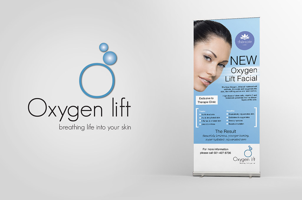 skin treatment banner and logo design