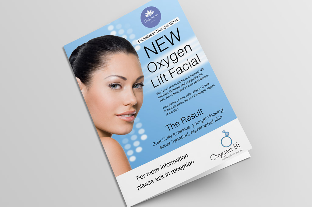 skin treatment flyer design