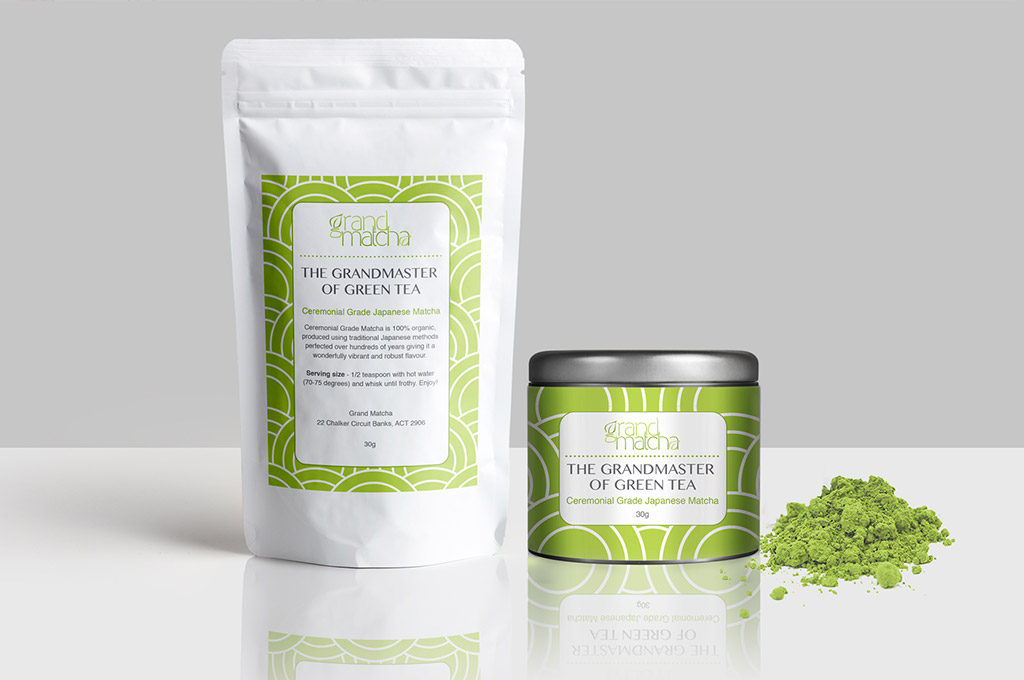 matcha green tea packaging design