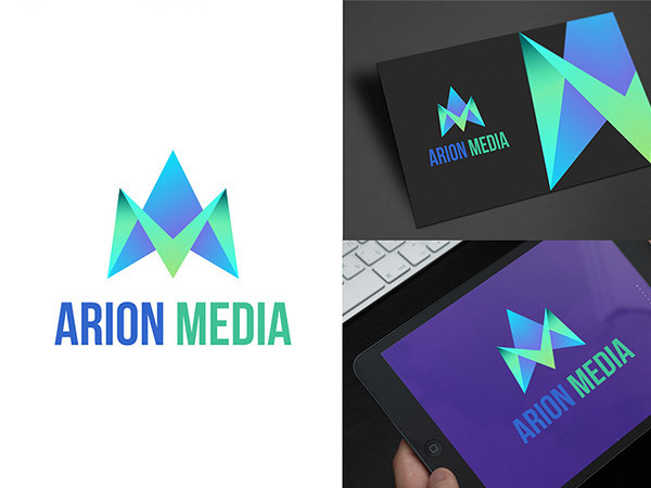 Arion Media Logo Design