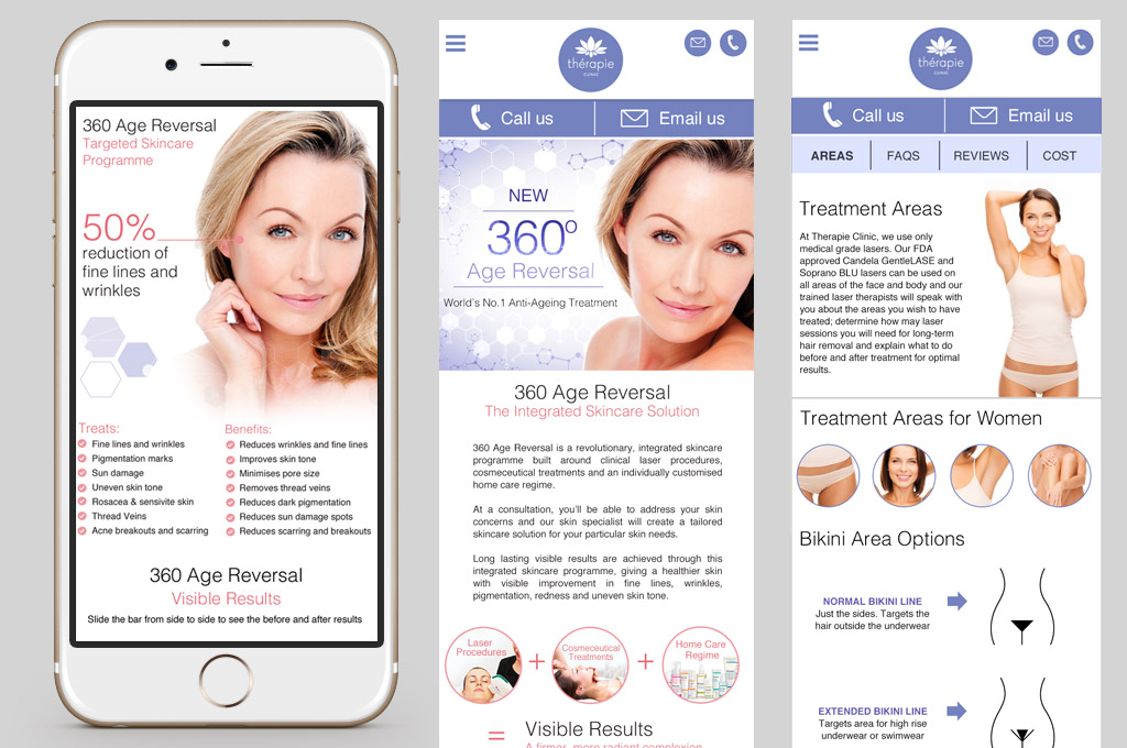 Skincare Clinic Landing Page Design Nv Graphic Design