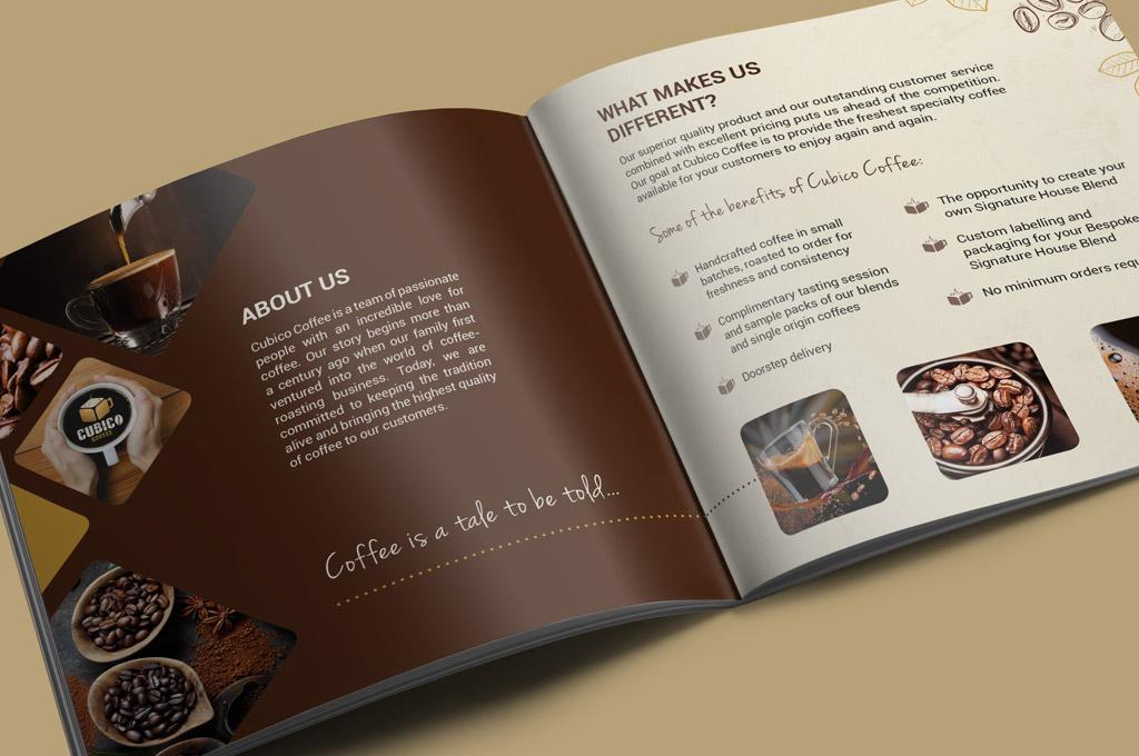 coffee wholesale brochure design