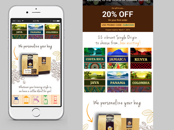 Email-Newsletter Design – Specialty Coffee