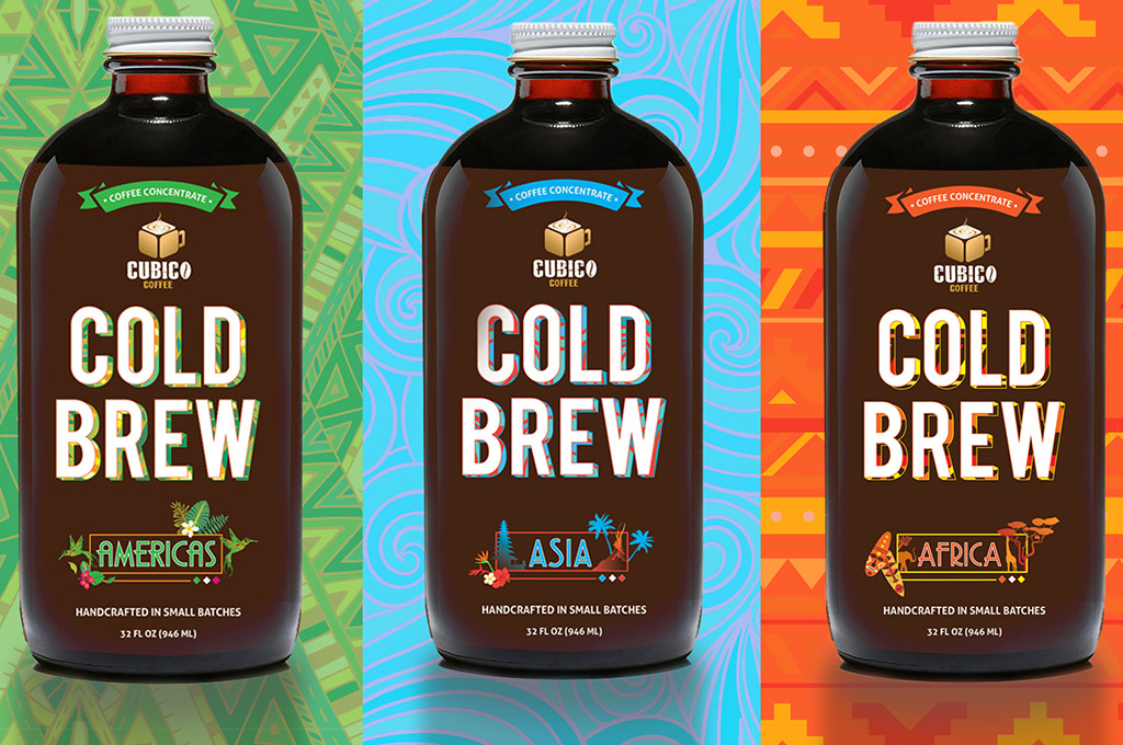 cold brew coffee label design
