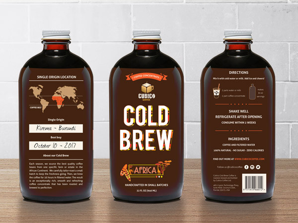 Cold Brew Coffee – Label Design