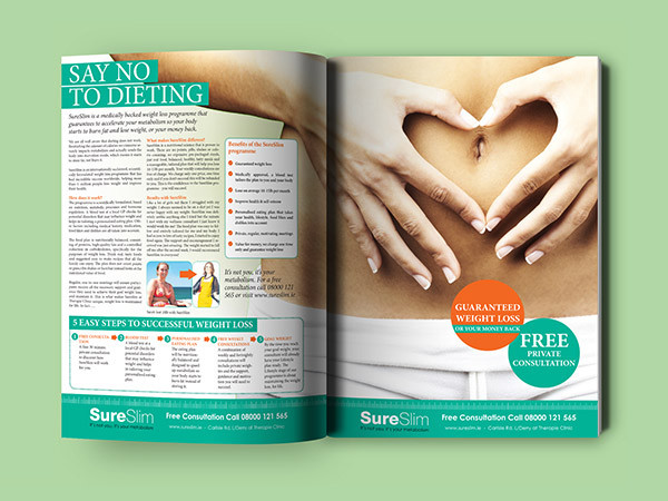 Newspaper Weight Loss Editorial Design