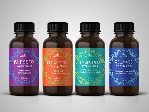 Aromatherapy Essential Oils Label Design