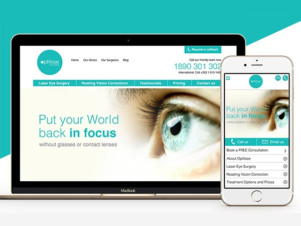 Laser Eye Surgery Website Design