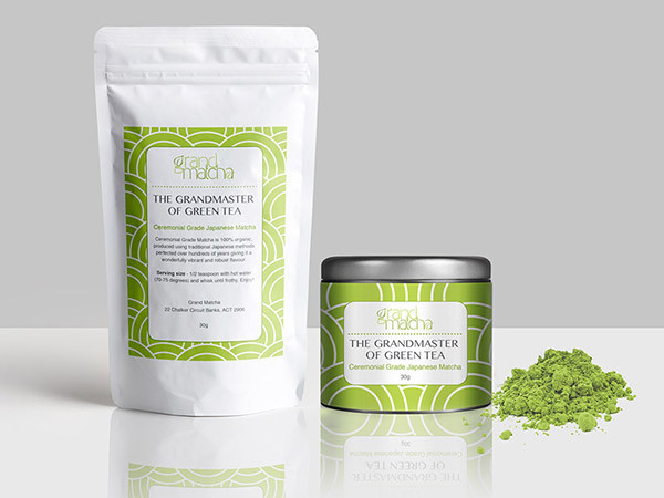 Matcha Green Tea Label Design