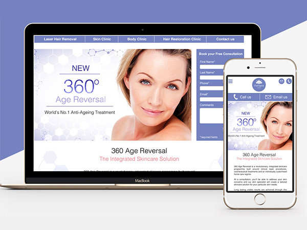 Skin Clinic Website Design