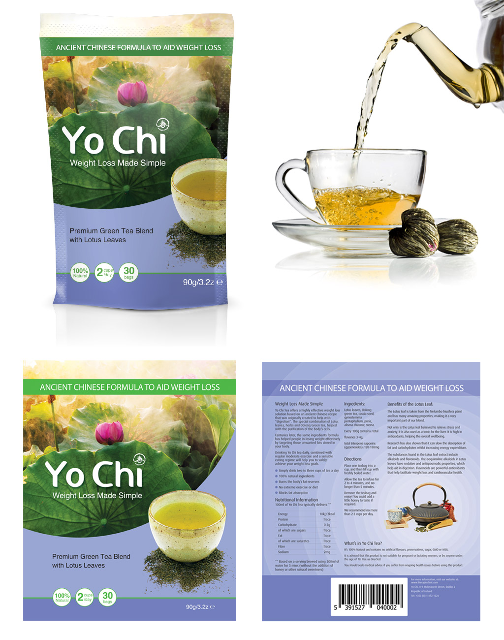 weight loss tea packaging design