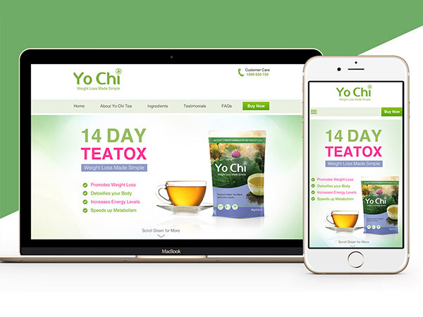 Weight Loss Tea Landing Page