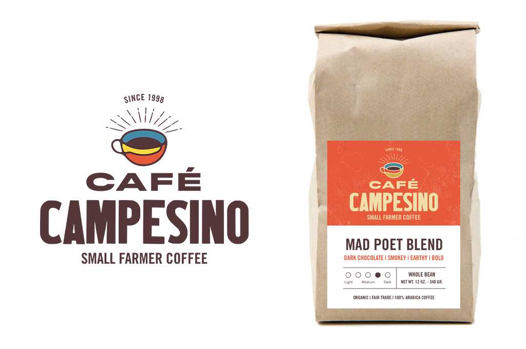 coffee company logo and label design