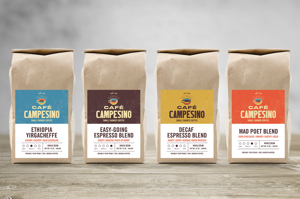 coffee label design examples