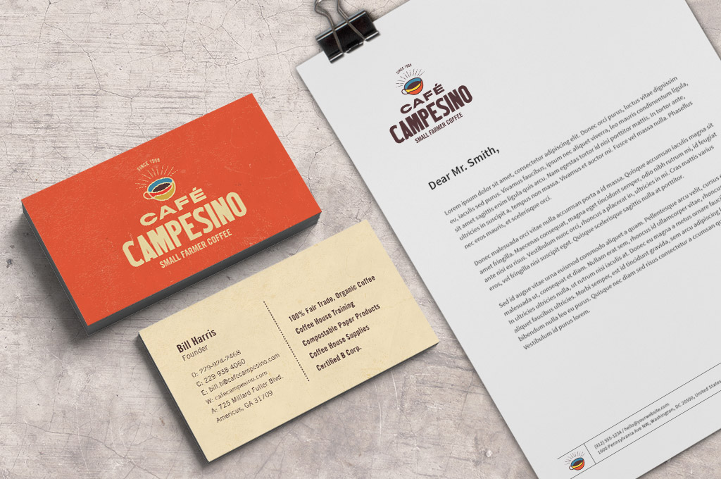 coffee company stationery design
