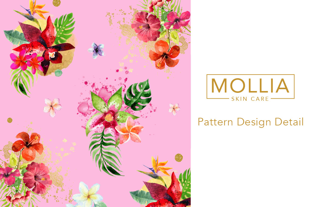 detail of logo and pattern design