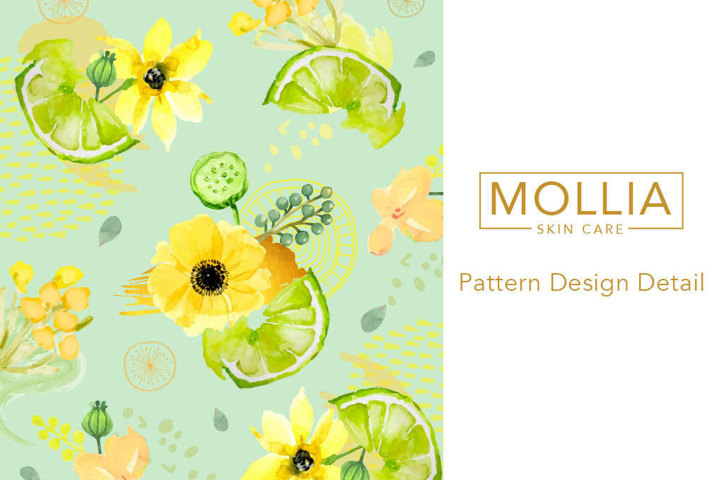 logo and pattern design for cosmetics