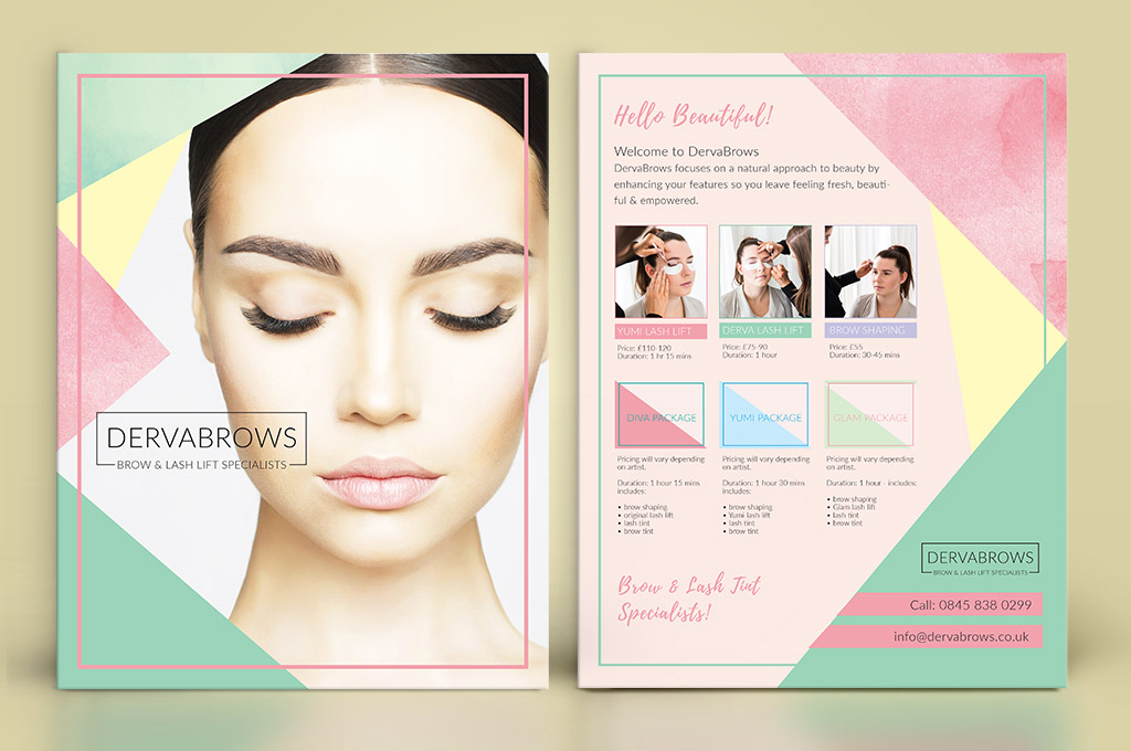 flyer design for eyebrow salon