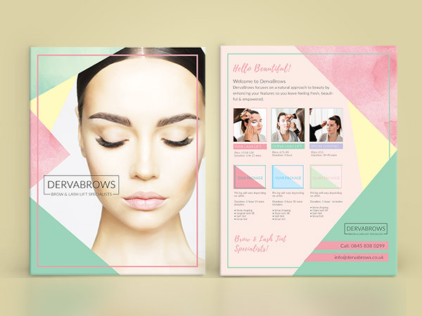 Eyelash & Eyebrow Salon Flyer Design