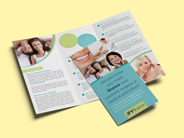 Flyer Design for Cosmetic Surgery Finance Company