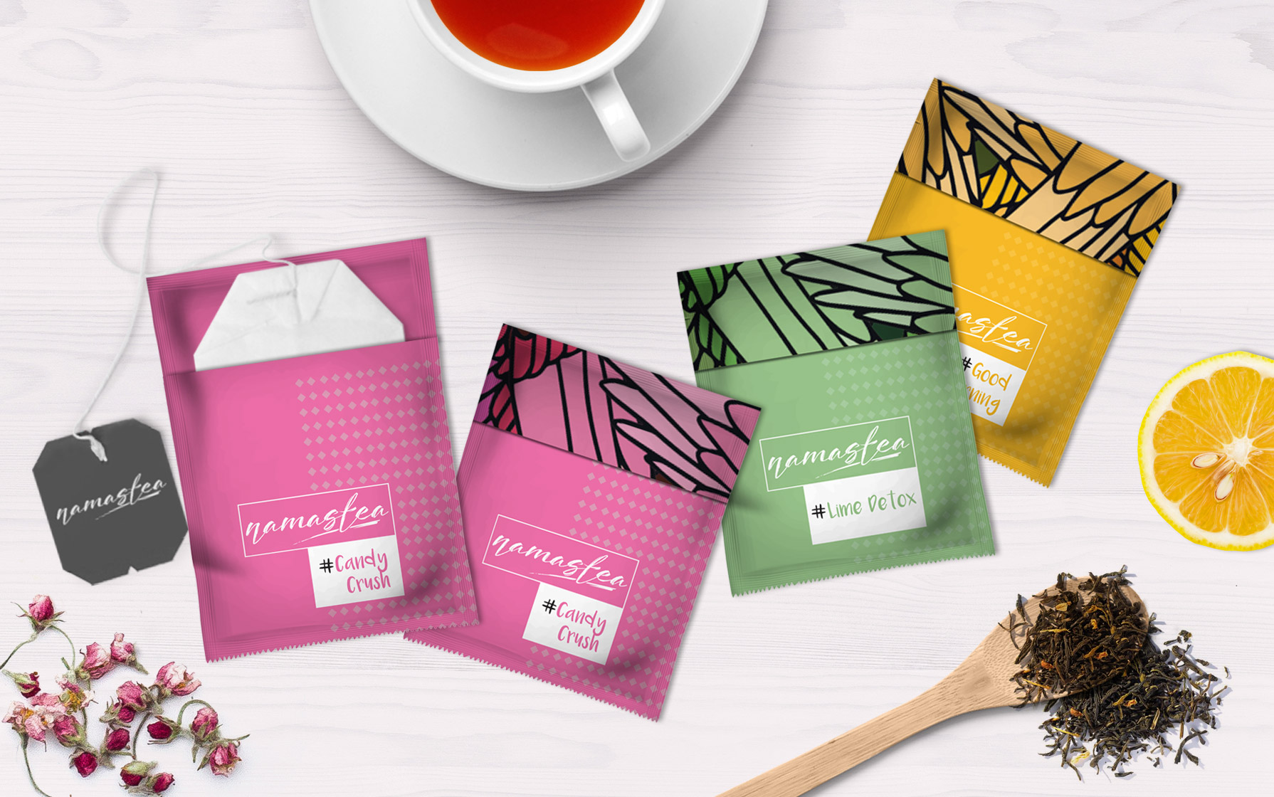 individual tea packaging design