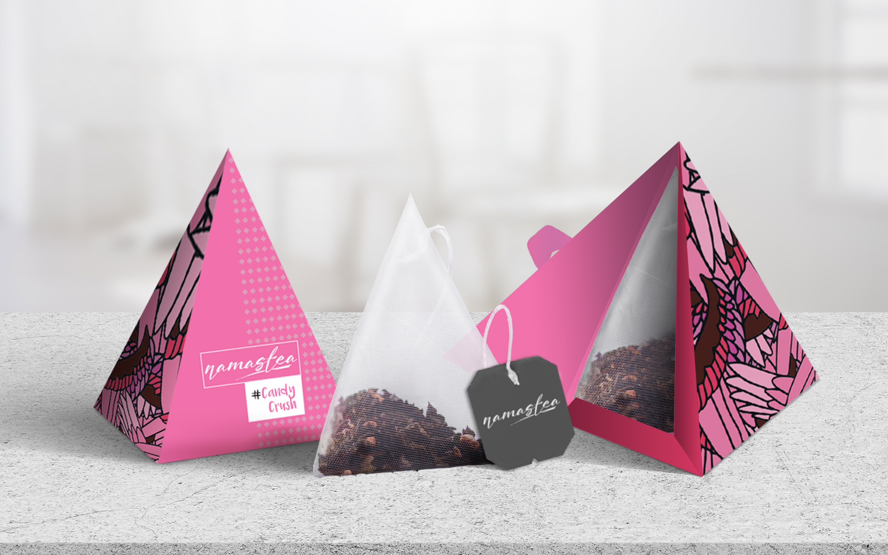 triangular tea packaging design