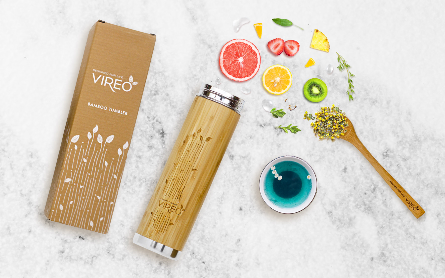 bamboo flask and packaging design