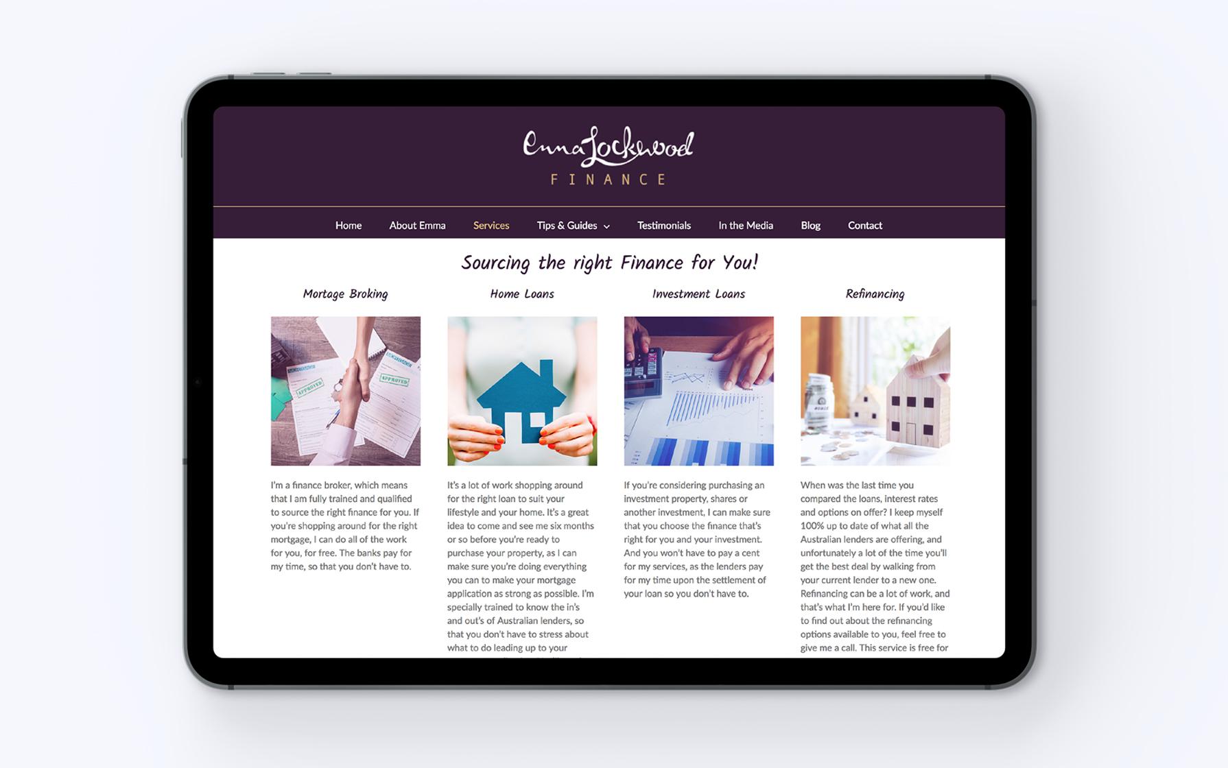 broker website design