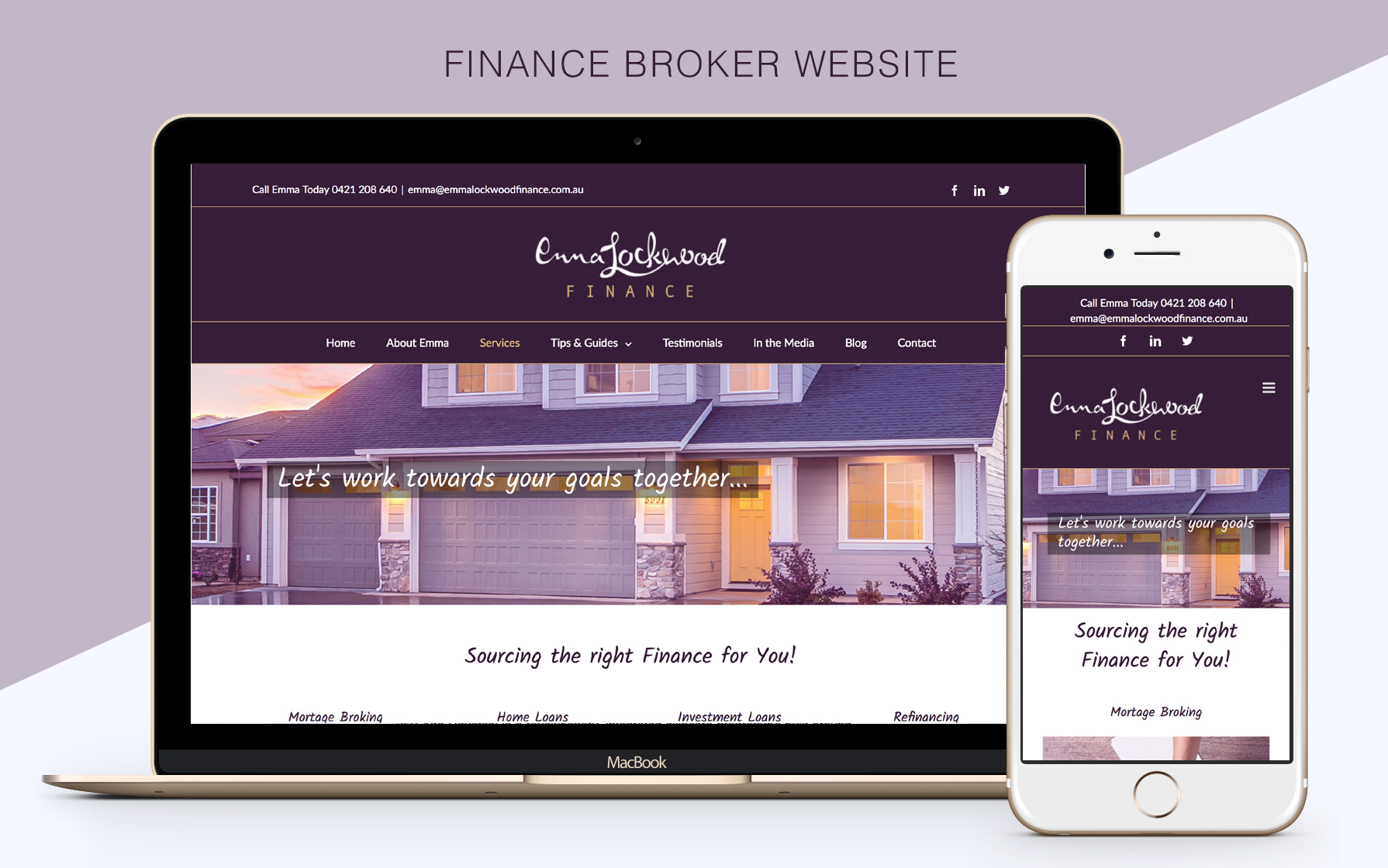 Finance broker website design